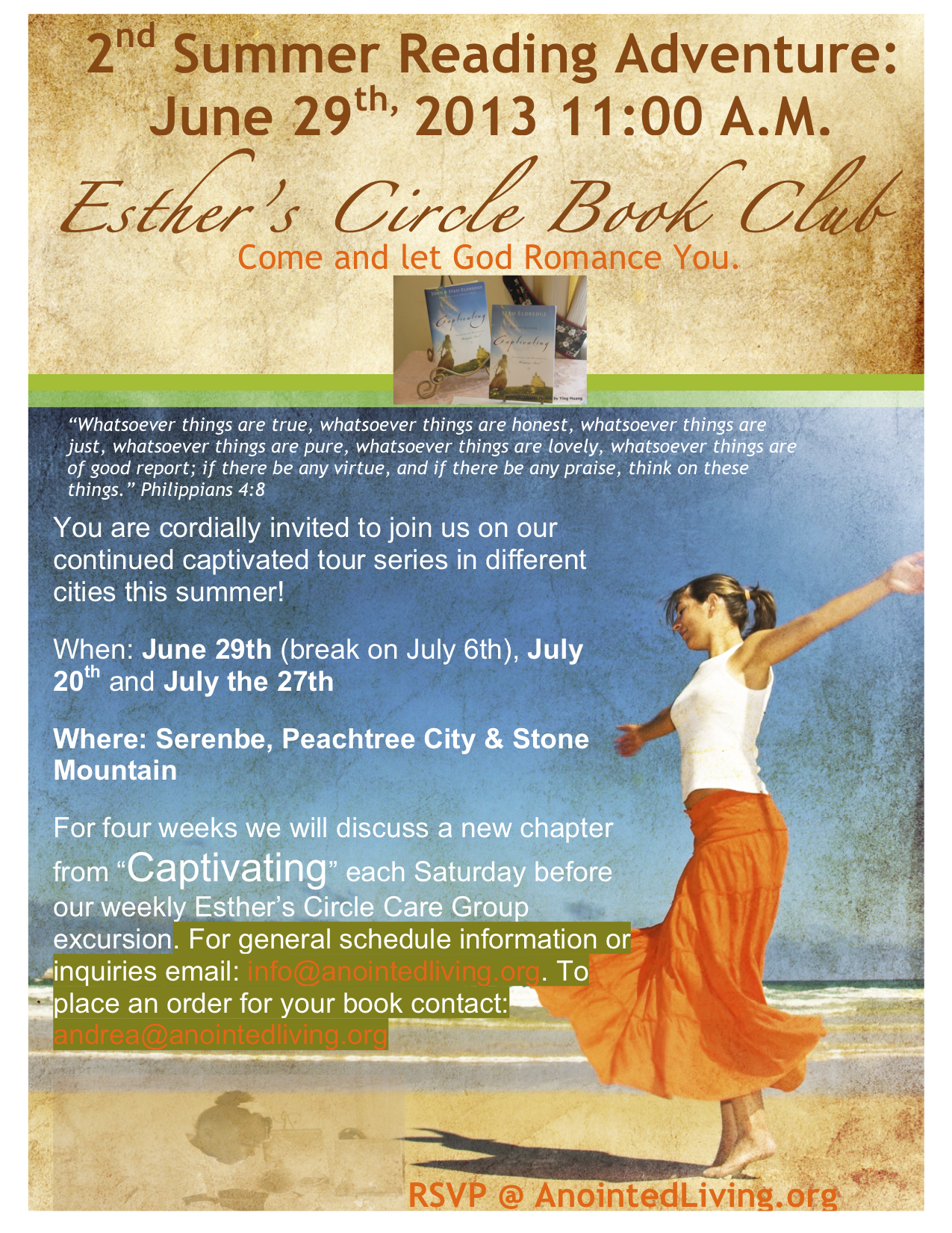 2013 Summer Reading Tour Program with Esther's Circle