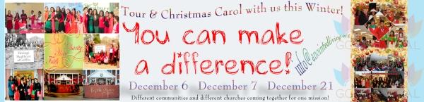 2013 Christmas Caroling Tour Ad